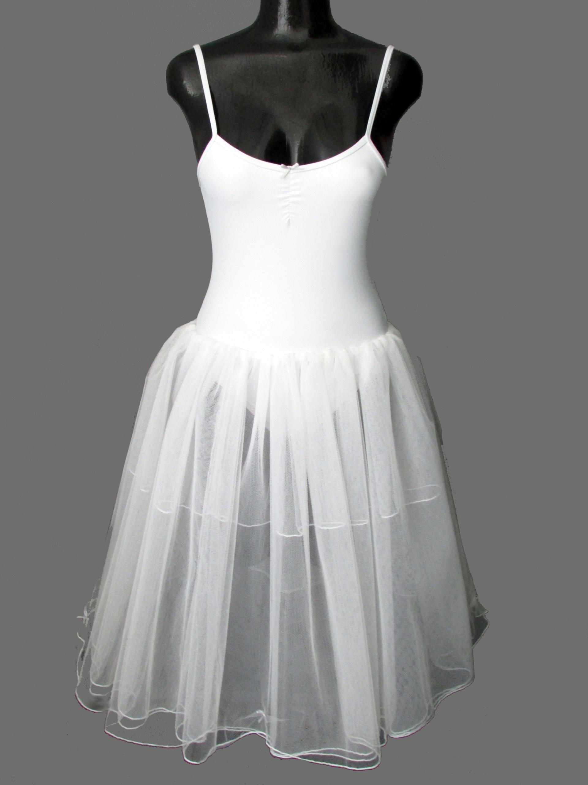 White romantic tutu with 4 layered skirt