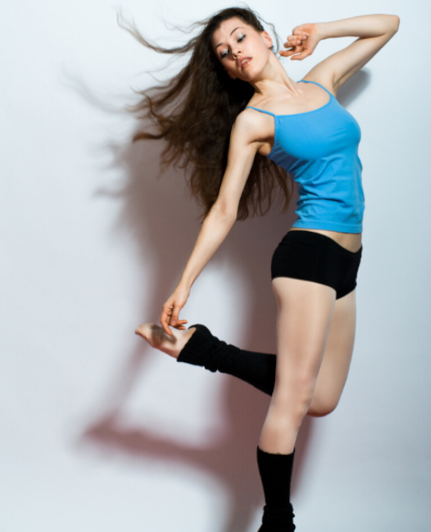 Modern dancer wearing dance wear